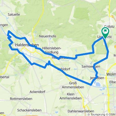 Lindhorst - Meseberg - Hillersleben - Haldensleben - Althaldensleben - Jersleben - Samswegen - Lindhorst