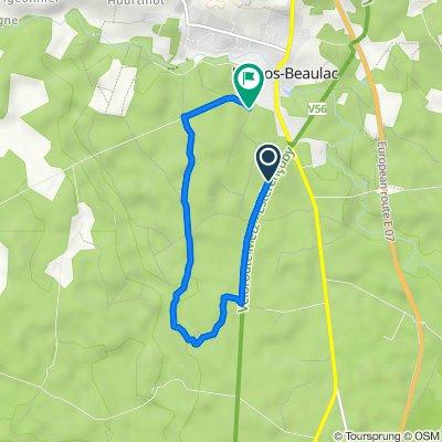 De Unnamed Road, Bernos-Beaulac à Route de Lucmau 19, Bernos-Beaulac