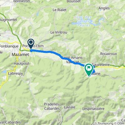 De D54, Bout-du-Pont-de-Larn à 3 La Carlarié, Albine