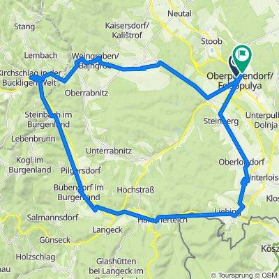 Mühlbachgasse 4, Oberpullendorf to L229 37, Oberpullendorf