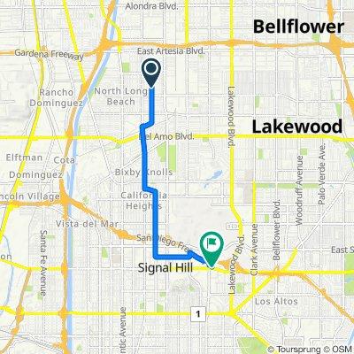 5921 Walnut Ave, Long Beach to 2600 Redondo Ave, Long Beach