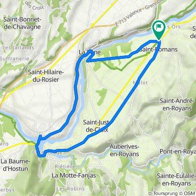 De 72 Grande Rue, Saint-Romans à 63 Route de Saint-Marcellin, Saint-Romans