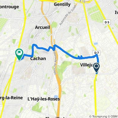 De 146 Boulevard Maxime Gorki, Villejuif à Avenue Chateaubriand, Cachan