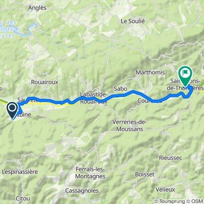 De 3 La Carlarié, Albine à 1B–1bis Chemin d'Artenac, Saint-Pons-de-Thomières