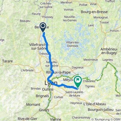 Zaterdag Dag 9 24-07-2021 Montmerle-Sur-Saone - Vliegveld Lyon