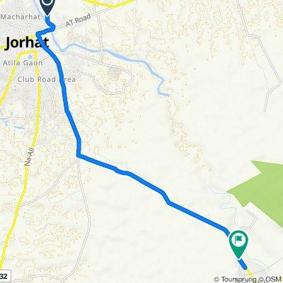Borpuzari Path, Kalakhowa Gaon to Jorhat Mariani Road