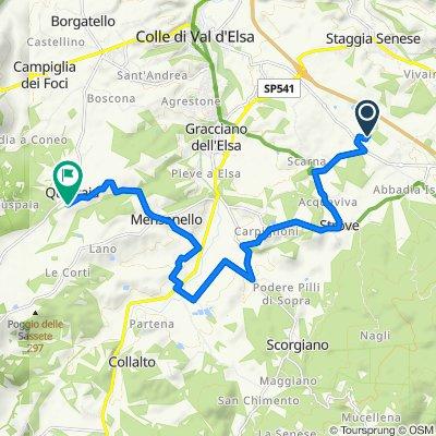 Percorso per Località Quartaia 114, Colle di Val d'Elsa