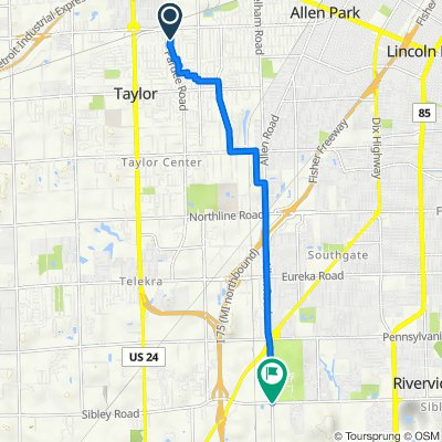 Tulane Street 7547, Taylor to Allen Road 19025, Brownstown Charter Township