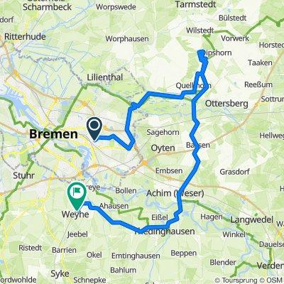 HB - Fischerhude - Buchholz/Kratteichen - Bassen - Achim - Thedinghausen - Weyhe