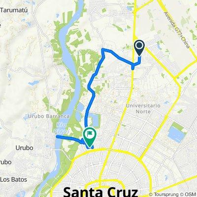 Ruta a Calle Tiluchi Este, Santa Cruz de la Sierra
