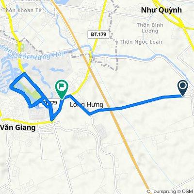 Route to Đường Tỉnh Lộ 179, H. Văn Giang