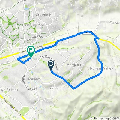 Route to 32570 Vail Creek Dr, Temecula