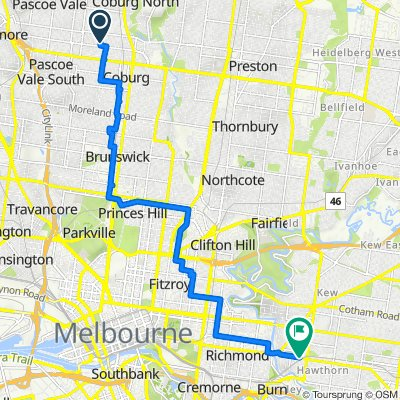 Webb Street 12, Coburg to State Route 30 41, Hawthorn