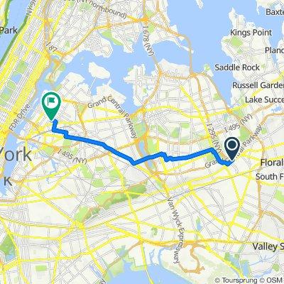 213-21 Hillside Ave, New York to 36-25 34th St, New York