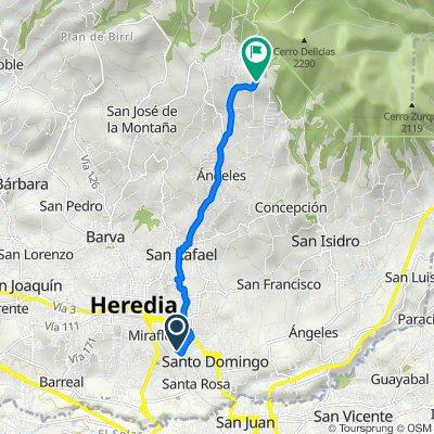 De Rincón de Ricardo, Rincón de Sabanilla a Paradero Turístico Monte de la Cruz