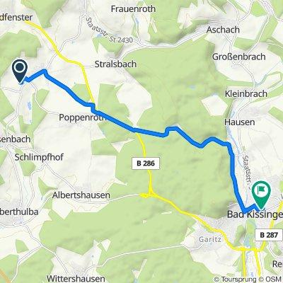 Am Schläglein 23, Burkardroth nach Hartmannstraße 4, Bad Kissingen