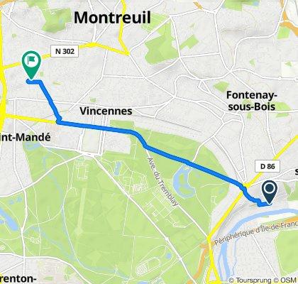 De 32 Avenue du Val de Beauté, Nogent-sur-Marne à 19 Impasse du Progrès, Montreuil