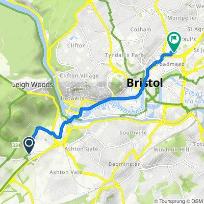 Ashton Road, North Somerset to 8 Brunswick Sq, Bristol