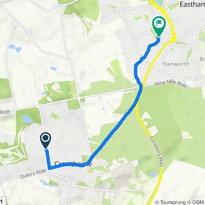 77 New Wokingham Road, Crowthorne to 61 Ashbourne, Bracknell