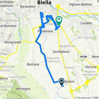Da Via Monte Bianco 65, Vergnasco a Via Piave 41, Gaglianico