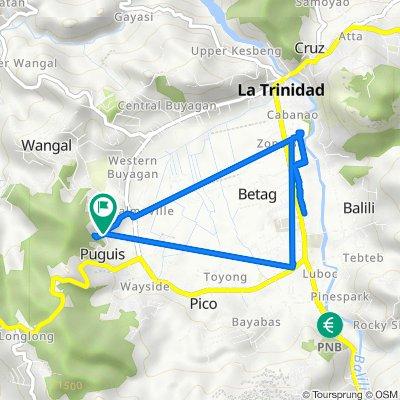 Unnamed Road, La Trinidad to Unnamed Road, La Trinidad