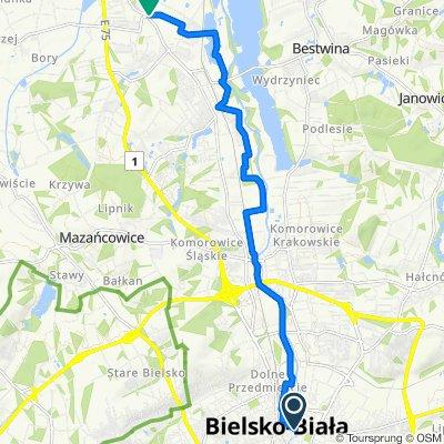 Trasa 1 czerwona Bielsko Biała - Czechowice Dziedzice 13 km