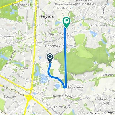 От 3-й микрорайон Новокосина, Москва до улица Октября 40, Реутов
