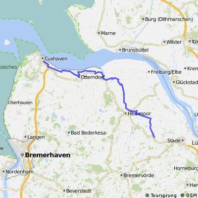 Cuxhaven Himmelpforten bei Westwind
