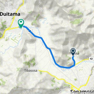 De Calle 3 10-76, Nobsa a Calle 20 44-60, Duitama