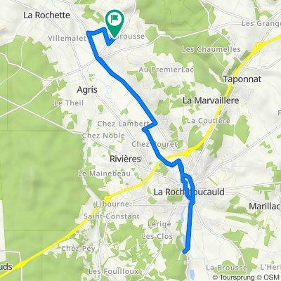 De 404–448 Route de Saint-Claud, Agris à 49 Rue de la Bellone, Agris