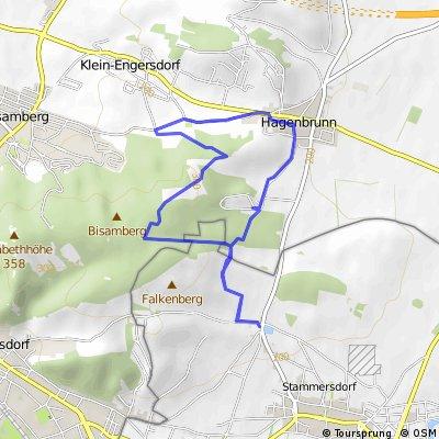 Bisamberg, von Stammersdorf aus, über Hagenbrunn