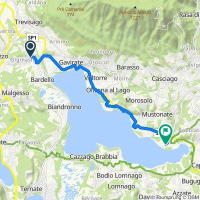 Da Via dei Ravasin 5, Besozzo a Via Giovanni Macchi 133–135, Varese