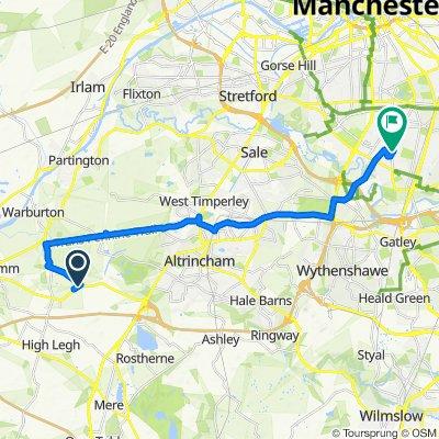 Lymm Road, Agden, Lymm to 1 Mayville Dr, Manchester