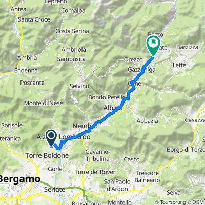 Da Via Don Pietro Brignoli 21–37, Ranica a Piazza San Marco 1–3, Vertova