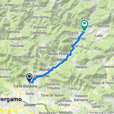 Da Via Francesco Petrarca 6, Ranica a Piazza San Marco 1–3, Vertova