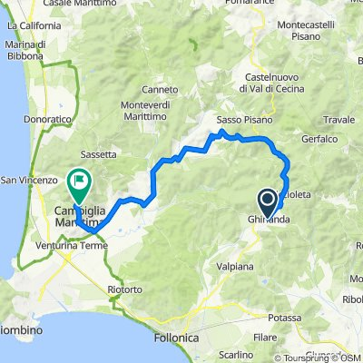 Road Bike - (Massa Marittima) Ghirlanda - Monterotondo - Frassine - Suvereto - Campiglia Ma/ma - Museo della Miniera di San Silvestro -