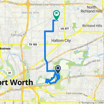 Streams and Valleys Cir, Fort Worth to 5009 Sabelle Ln, Haltom City