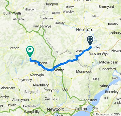 Route to A40, Bwlch, Brecon
