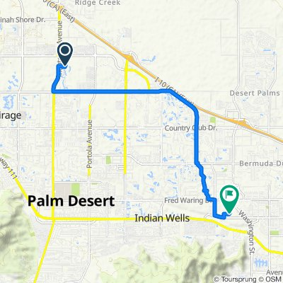 9002 Shadow Ridge Rd, Palm Desert to 78200 Miles Ave, Indian Wells