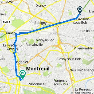 De 3 Allée du Bon Pêcheur, Les Pavillons-sous-Bois à 30 Rue du Progrès, Montreuil