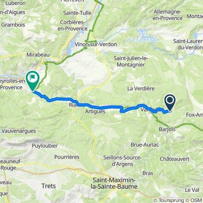 5 Place de la Mairie, Tavernes nach 110 Route de Vauvenargues, Jouques