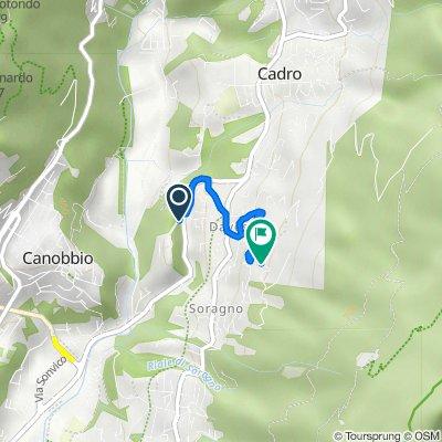 Da Strada Ponte di Valle 7, Davesco-Soragno a Via dei Ronchi 8, Davesco-Soragno