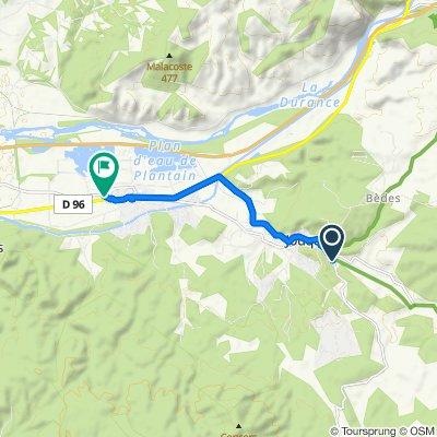 110 Route de Vauvenargues, Jouques nach Chemin de la Marinière, Peyrolles-en-Provence