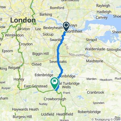 Town Square Crescent, Dartford to Withyham Road, Withyham, Hartfield
