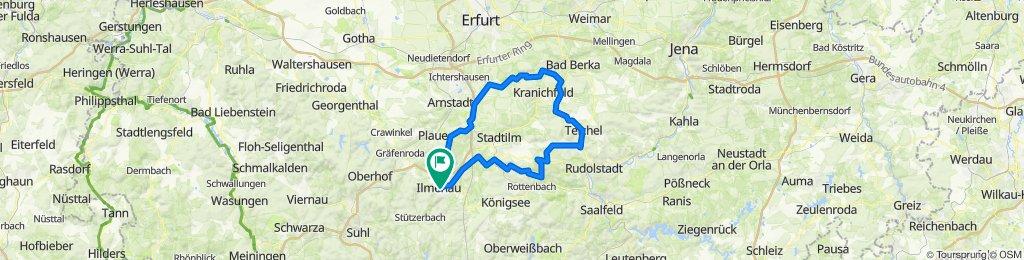 2021-05-13: Ilmenau - Solsdorf - Teichel - Hohenfelden