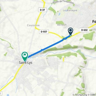De Impasse de Belesta, Fonsorbes à 18–19 Place René Bastide, Saint-Lys