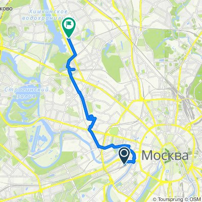 От Москва до Водный стадион, Москва
