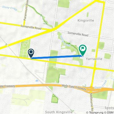 56 Stanger Street, Yarraville to 25 Corris Street, Yarraville