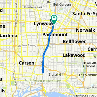 Los Angeles River Bicycle Trail, South Gate to 11390 Idaho Ave, South Gate