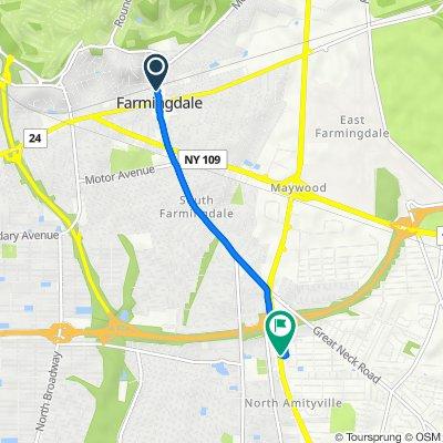 208 Main St, Farmingdale to 10 Greybarn Ln, Amityville